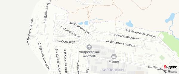 1-й Черкасский переулок на карте Ростова-на-Дону с номерами домов