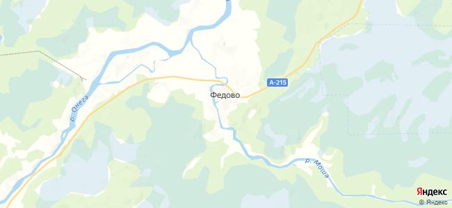 Федово на карте