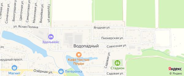 Верхний переулок на карте Водопадного поселка Ростовской области с номерами домов