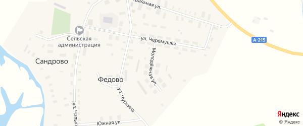 Молодежная улица на карте села Федово с номерами домов