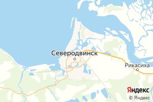 Карта г. Северодвинск Архангельская область