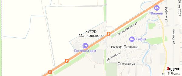Карта хутора Маяковского в Ростовской области с улицами и номерами домов