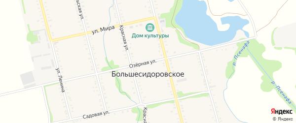 Озерная улица на карте Большесидоровского села Адыгеи с номерами домов