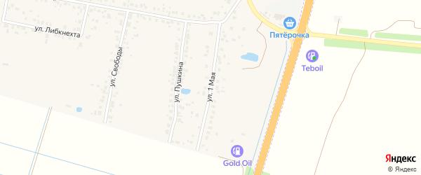 1 Мая улица на карте села Поляны Рязанской области с номерами домов