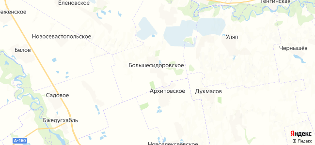 Большесидоровское на карте