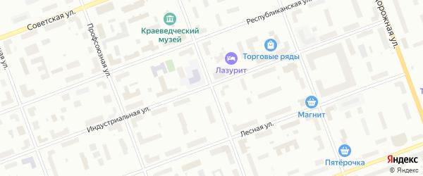 Пионерская улица на карте Северодвинска с номерами домов