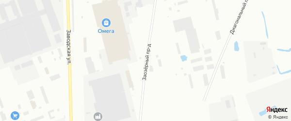 Заозерный проезд на карте Северодвинска с номерами домов