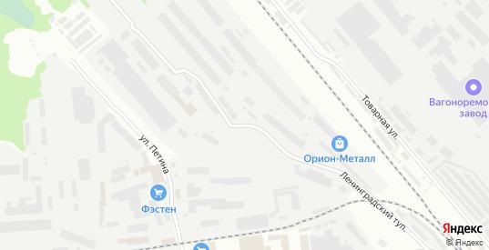 Улица Ленинградский тупик в Вологде с номерами домов на карте. Спутник и схема онлайн