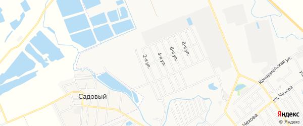 Территория днт Строитель на карте Майкопа с номерами домов
