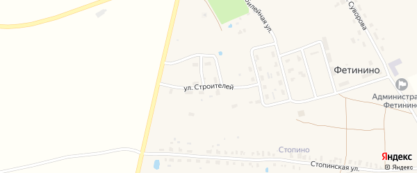 Улица Строителей на карте села Фетинино Владимирской области с номерами домов