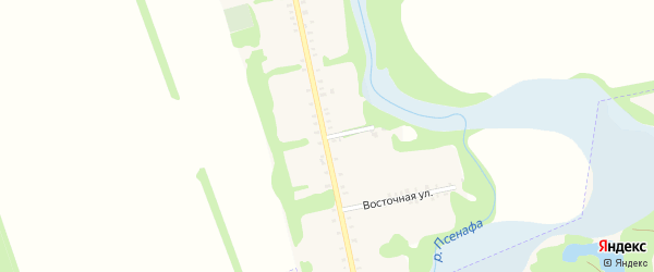 Восточный переулок на карте Большесидоровского села Адыгеи с номерами домов