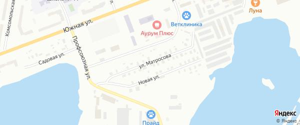 Улица Матросова на карте Северодвинска с номерами домов
