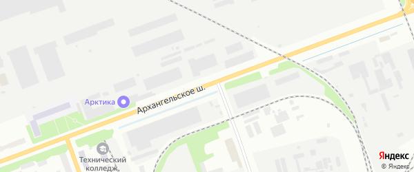 Архангельское шоссе на карте Северодвинска с номерами домов