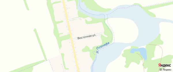 Восточная улица на карте Большесидоровского села Адыгеи с номерами домов