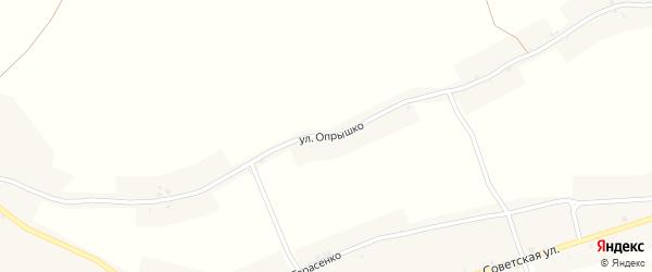 Улица Опрышко на карте Колодежного села Воронежской области с номерами домов