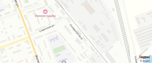Складской проезд на карте Северодвинска с номерами домов