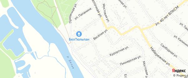 Веселая улица на карте Белореченска с номерами домов