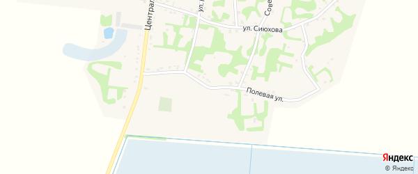 Полевая улица на карте аула Джамбичи Адыгеи с номерами домов