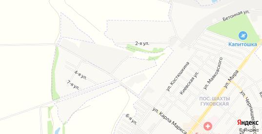Карта поселка Энергия в Гуково с улицами, домами и почтовыми отделениями со спутника онлайн