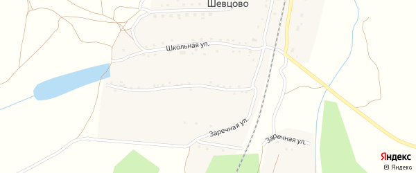 Заречная улица на карте деревни Шевцово Рязанской области с номерами домов