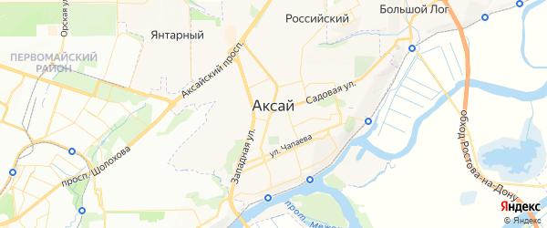 Карта Аксая с районами, улицами и номерами домов