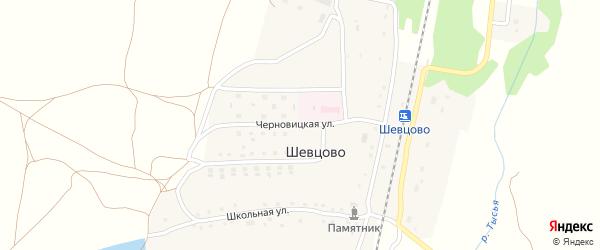 Молодежная улица на карте деревни Шевцово Рязанской области с номерами домов