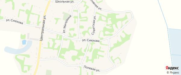 Советская улица на карте аула Джамбичи Адыгеи с номерами домов