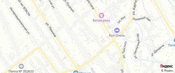 Стрелецкий переулок на карте Белореченска с номерами домов