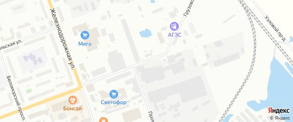Грузовой проезд на карте Северодвинска с номерами домов