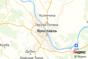 Карта г. Ярославль Ярославская область