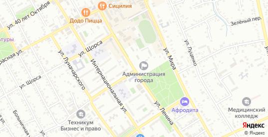 Первомайский переулок в Белореченске с номерами домов на карте. Спутник и схема онлайн