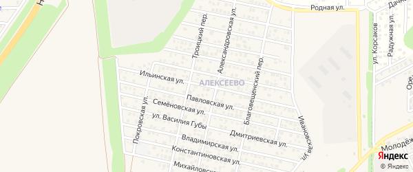 Ильинская улица на карте Аксая с номерами домов