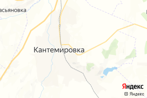 Карта пос. Кантемировка Воронежская область