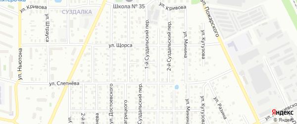 Переулок Багрицкого на карте Ярославля с номерами домов