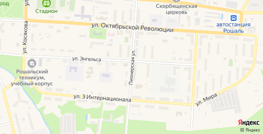 Пионерская улица в Рошале с номерами домов на карте. Спутник и схема онлайн