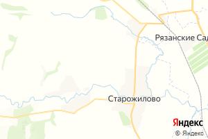 Карта пгт Старожилово Рязанская область