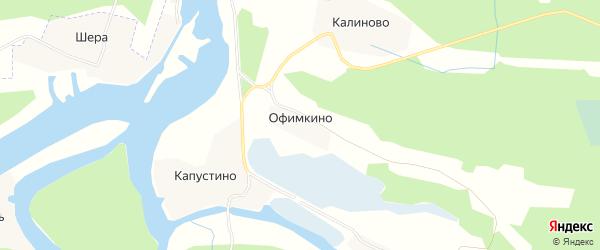 Карта деревни Офимкино в Вологодской области с улицами и номерами домов
