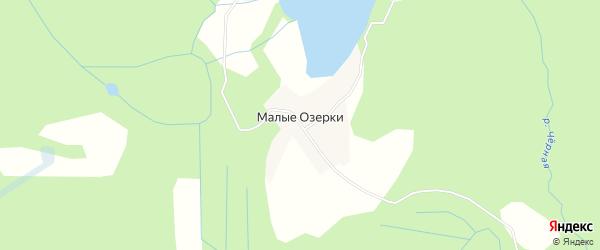 Карта деревни Малые Озерки в Вологодской области с улицами и номерами домов
