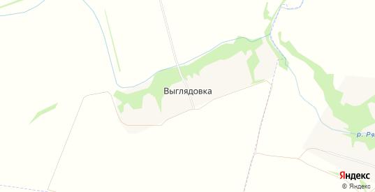 Карта деревни Выглядовка в Липецкой области с улицами, домами и почтовыми отделениями со спутника онлайн