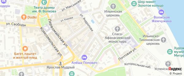 Улица Нахимсона на карте Ярославля с номерами домов