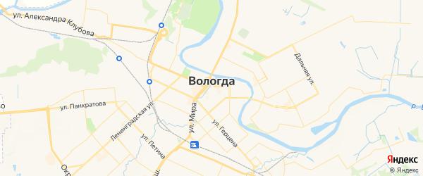 Карта Вологды с районами, улицами и номерами домов: Вологда на карте России