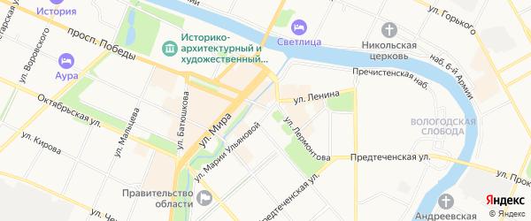 ГСК Кароса на карте Вологды с номерами домов