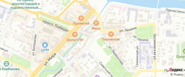 2-ой Авиационный переулок на карте Вологды с номерами домов