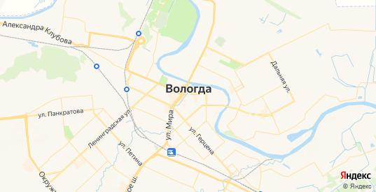 Карта Вологды с улицами и домами подробная. Показать со спутника номера домов онлайн
