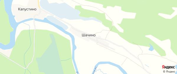 Карта деревни Шачино в Вологодской области с улицами и номерами домов