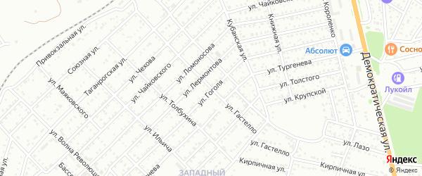 Улица Гастелло на карте Новошахтинска с номерами домов