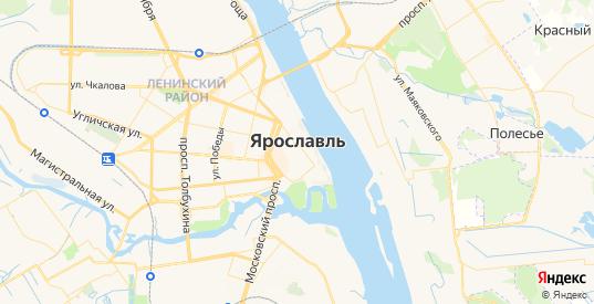 Карта Ярославля с улицами и домами подробная. Показать со спутника номера домов онлайн
