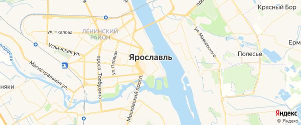 Карта Ярославля с районами, улицами и номерами домов