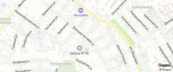 2-я Полянская улица на карте Ярославля с номерами домов