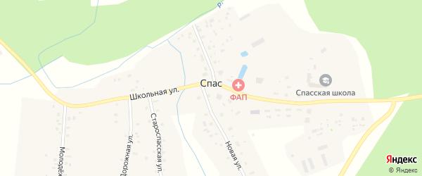 Лесная улица на карте села Спаса Ярославская области с номерами домов